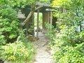 鴎外邸側から見た門