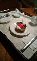 ホテルがケーキをプレゼント