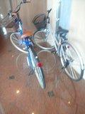 前回宿泊した時には無かった貸出用の自転車です