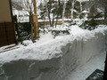 目の前は雪の壁