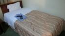 ベッドと浴衣