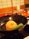 夕食:飛竜頭とオクラの揚げ出し