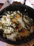 夕食写真 石焼丼です。