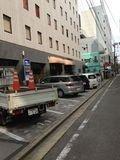 ホテル 駐車場 です。