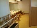 「左の湯」脱衣場の洗面台