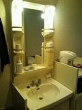 清涼館シングルの洗面台