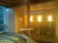露天風呂の洗い場