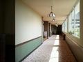 宴会場、食事処への廊下