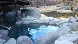 蛍あかりの湯の露天風呂