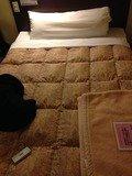 ベッドの枕は長いです!