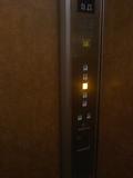 エレベータの中。