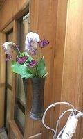 脱衣所にも花が飾ってあります