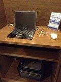 8階フロント横のパソコンコーナー