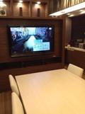 共用スペースには大型テレビあり