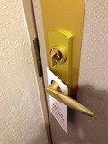 部屋のドア内側