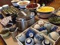 朝食バイキング御飯総菜コーナー