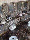 野天風呂の洗い場