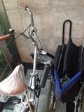 レンタサイクルと車椅子