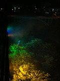 夜のライトアップ 部屋からの景色