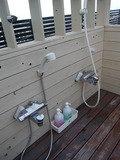 屋上露天の洗い場