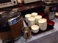 朝食バイキングご飯味噌汁コーナー