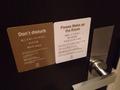 マグネット式ドア表示板