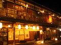 夜の洞川温泉の旅館街です。