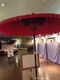 江戸情話夜市入口の和傘