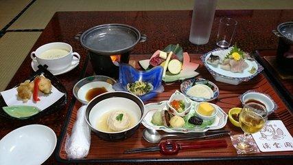 写真クチコミ:秘湯にごり湯の宿渓雲閣の夕食