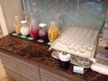 朝食バイキング ジュースコーナー
